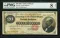 Large Size:Gold Certificates, Fr. 1178 $20 1882 Gold Certificate PMG Very Good 8 Net.. ...