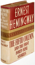 Books:Literature 1900-up, Ernest Hemingway. The Fifth Column. And the First Forty-Nine Stories. New York: 1938. First edition....