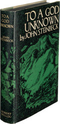 Books:Literature 1900-up, John Steinbeck. To a God Unknown. New York: Robert O.Ballou, [1933]. First edition, first issue. ...