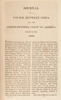Books:Americana & American History, [California]. [William Shaler]. Journal of a Voyage Between China and the North-Western Coast of America Made in 1804....