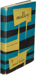 Books:Literature 1900-up, Samuel Beckett. Molloy. Paris: Olympia Press, 1955. First English-language edition, translated by Patrick Bowels in ...