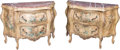 Furniture , A Pair of Venetian-Style Paint-Decorated Commodes. 35-1/2 h x 50 w x 21 d inches (90.2 x 127 x 53.3 cm). ... (Total: 4 Items)