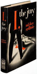 Books:Mystery & Detective Fiction, Mickey Spillane. I, the Jury. New York: 1947. First editionwith a photograph signed by the author laid in. ...