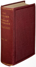 Books:Americana & American History, Susan B. Anthony. The History of Woman Suffrage. Vol. IV[only]. Rochester: [1902]. First edition, association c...