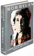 Books:Music & Sheet Music, Bob Dylan. Lyrics, 1962-1985. New York: 1985. Second edition, presentation copy, inscribed....