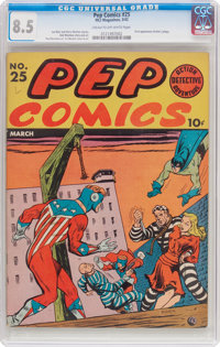 Pep Comics #25 (MLJ, 1942) CGC VF+ 8.5 Cream to off-white pages