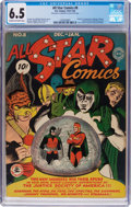 Golden Age (1938-1955):Superhero, All Star Comics #8 (DC, 1942) CGC FN+ 6.5 Cream to off-white pages....