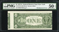 Error Notes:Miscellaneous Errors, Misaligned Back Printing Error Fr. 1910-B $1 1977A Federal ReserveNote. PMG About Uncirculated 50 EPQ.. ...