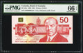 Canadian Currency: , BC-59a $50 1988 with Low Serial Number EHP0000154. ...