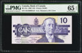 Canadian Currency: , BC-57a $10 1989 with Low Serial Number ADA0000154. ...