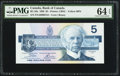 Canadian Currency: , BC-56a $5 1986 with Low Serial Number ENA0000154. ...