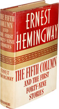 Books:Literature 1900-up, Ernest Hemingway. The Fifth Column. And the First Forty-Nine Stories. New York: Charles Scribner's Sons, 193...