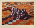 Fine Art - Work on Paper:Print, Lowell Nesbitt (American, 1933-1993). Grapes on Rug, 1977. Lithograph in colors on Arches paper. 24-1/8 x 31-3/8 inches ...
