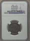 1804 1/2 C Plain 4, No Stems -- Scratches -- Details NGC. VF. NGC Census: (0/0). PCGS Population: (58/922). VF20. Mintag...