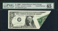 Error Notes:Foldovers, Printed Fold Fr. 1906-G $1 1969C Federal Reserve Note. PMG GemUncirculated 65 EPQ.. ...