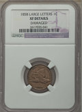 Flying Eagle Cents, 1858 1C Large Letters -- Damaged -- Details NGC. XF. NGC Census: (0/167). PCGS Population: (173/2001). XF40. Mintage 24,600...