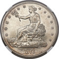 Trade Dollars, 1876-CC T$1 Doubled Die Reverse AU58 NGC. FS-801....