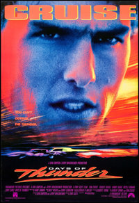 """Days of Thunder & Other Lot (Paramount, 1990). One Sheets (2) (26.75"""" X 39.75"""", 27"""" X 40"""") D..."""