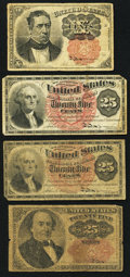Fractional Currency:Fifth Issue, Fr. 1265 10¢ Fifth Issue Very Good-Fine;. Fr 1301 25¢ Fourth IssueFine-Very Fine;. Fr. 1307 25¢ Fourth Issue Good-Very Good;...(Total: 4 notes)