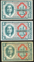 Military Payment Certificates:Series 611, Series 611 $1 Three Examples.. ... (Total: 3 notes)