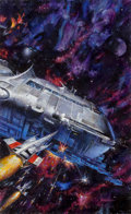 Mainstream Illustration, Doug Beekman (American, 20th Century). Imperial Stars - TheStars at War, book cover. Oil on board. 27 x 16.25 in. (imag...