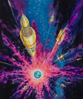 Mainstream Illustration, Edmund (Emsh) Emshwiller (American, 1925-1990). The GreatExplosion, paperback cover, 1963. Mixed media on board. 14.5x...