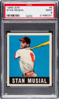 Baseball Cards:Singles (1940-1949), 1948 Leaf Stan Musial #4 Rookie PSA Mint 9.. ...