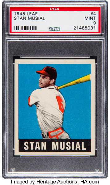 1948 Leaf Stan Musial 4 Rookie Psa Mint 9 Baseball Cards