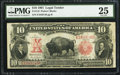 Large Size:Legal Tender Notes, Fr. 119 $10 1901 Legal Tender PMG Very Fine 25.. ...