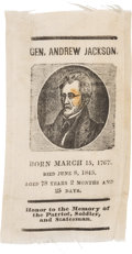 Political:Memorial (1800-present), Andrew Jackson: Small Mourning Ribbon....