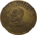 Political:Tokens & Medals, James A. Garfield and Winfield S. Hancock: Rare Muling in Brass....