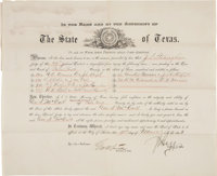 James S. Hogg Commission Signed