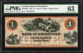Canadian Currency: , Sault St. Marie, CW- Bank of Bradford $1 Nov. 1, 1859 Ch. #40-12-02R Remainder.. ...