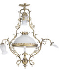 Decorative Arts, Continental:Lamps & Lighting, A Beaux Arts-Style Gilt Bronze Chandelier. 41 h x 37 w x 14-1/2 dinches (104.1 x 94.0 x 36.8 cm). ...