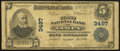 National Bank Notes:Florida, Tampa, FL - $5 1902 Plain Back Fr. 599 The First NB Ch. # 3497. ...