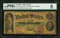 Large Size:Legal Tender Notes, Fr. 62 $5 1862 Legal Tender PMG Very Good 8....