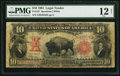 Large Size:Legal Tender Notes, Fr. 122 $10 1901 Legal Tender PMG Fine 12 Net.. ...