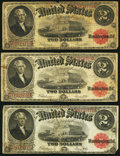 Large Size:Legal Tender Notes, Fr. 60 $2 1917 Legal Tenders Three Examples Very Good or Better..... (Total: 3 notes)
