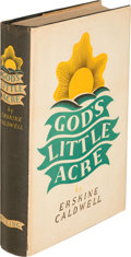 Books:Literature 1900-up, Erskine Caldwell. God's Little Acre. New York: The Viking Press, 1933. First edition, presentation copy, inscribed...