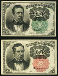 Fractional Currency:Fifth Issue, Fr. 1264 10¢ Fifth Issue VF;. Fr. 1265 10¢ Fifth Issue About New..... (Total: 2 notes)