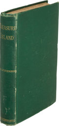 """Books:Literature Pre-1900, Robert Louis Stevenson. Treasure Island. London: Cassell& Company, 1883. First edition, mixed state of text with """"d..."""