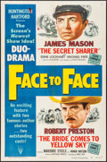 "Movie Posters:Action, Face to Face (RKO, 1952). One Sheet (27"" X 41""). Action.. ..."