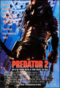 "Movie Posters:Science Fiction, Predator 2 (20th Century Fox, 1990). One Sheet (27"" X 40"") DSAdvance. Science Fiction.. ..."