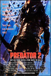 "Predator 2 (20th Century Fox, 1990). One Sheet (27"" X 40"") DS Advance. Science Fiction"