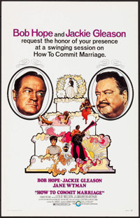 """How to Commit Marriage (Cinerama Releasing, 1969). Window Card (14"""" X 22""""). Comedy"""