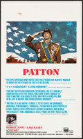 "Movie Posters:War, Patton (20th Century Fox, 1970). Window Card (14"" X 22""). War.. ..."