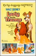"Movie Posters:Animation, Lady and the Tramp & Other Lot (Buena Vista, R-1972). One Sheets (27"" X 41""). Animation.. ... (Total: 2 Items)"