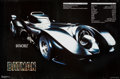 """Movie Posters:Action, Batman (Warner Brothers, 1989). Batmobile Commercial Poster (35"""" X23""""). Action.. ..."""