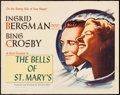 "Movie Posters:Drama, The Bells of St. Mary's (NTA, R-1957). Half Sheet (22"" X 28""). Drama.. ..."