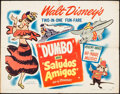 """Movie Posters:Animation, Dumbo/Saludos Amigos Combo (RKO, R-1949). Half Sheet (22"""" X 28"""")Style A. Animation.. ..."""